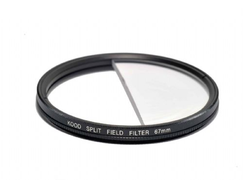 Split Field Filter +2 Diopter 67mm in Slim Rotating Ring Split-Field 67mm Filter